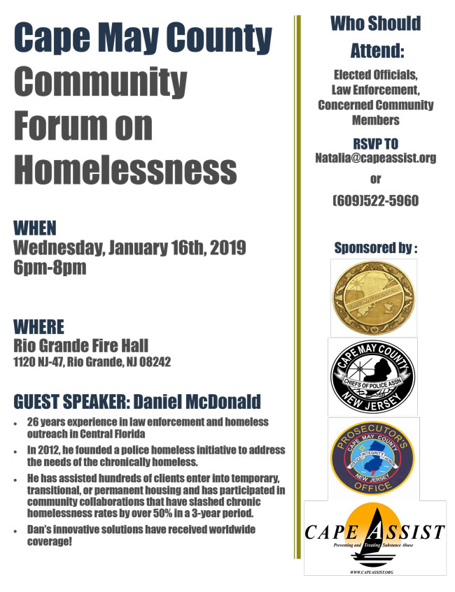 Cape May County Community Forum on Homelessness – Middle